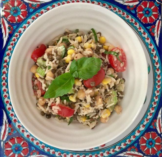 Creamy Rice & Lentil Salad